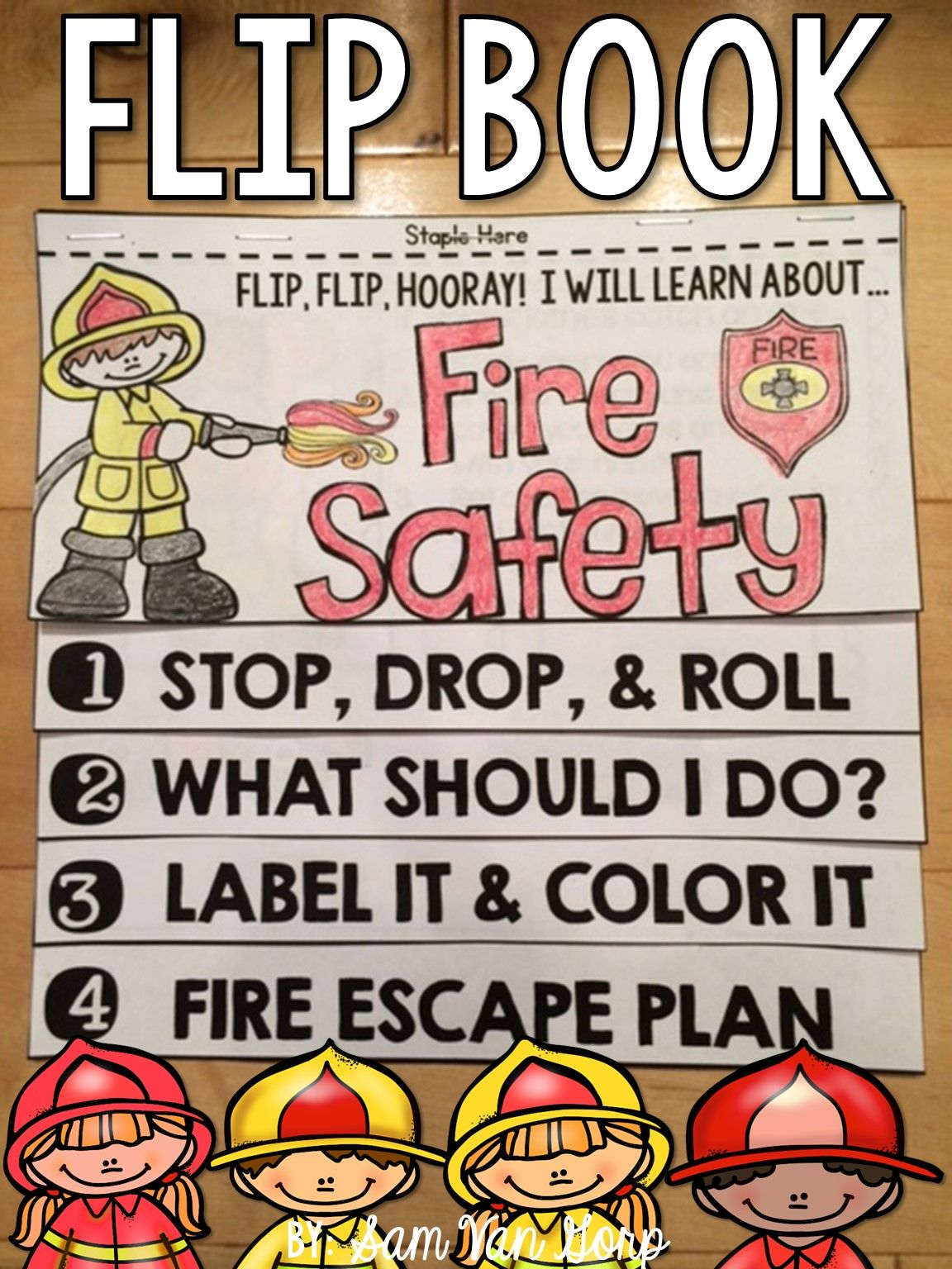 Fire Safety Minibook Tpt Language Arts Lessons T Fire