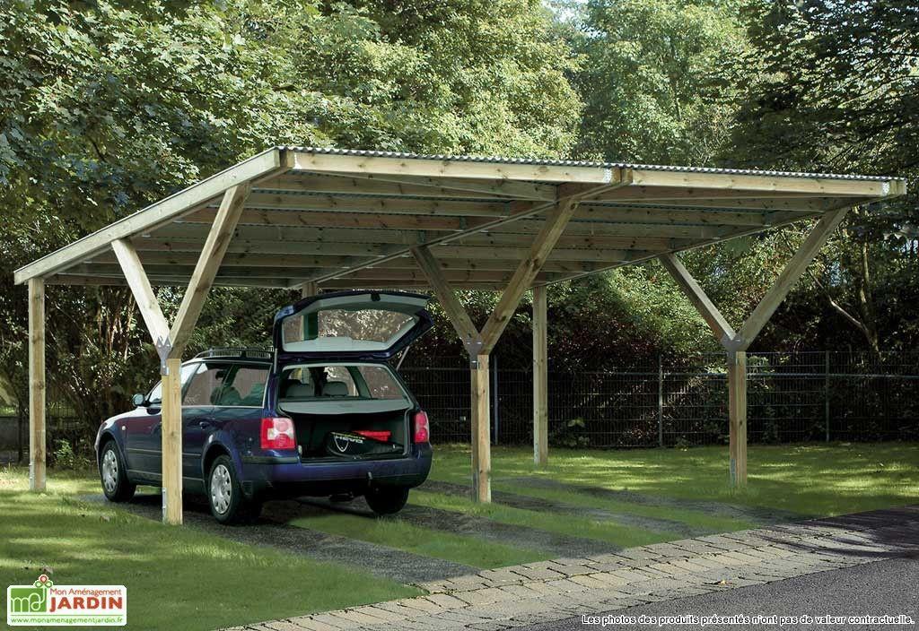 Carport y double 6x6 abri voiture refuges et abri bois for Abri auto double costco