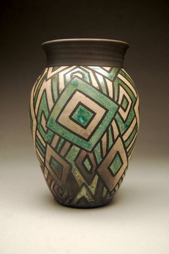 Metallic Raku Vase. Love this!