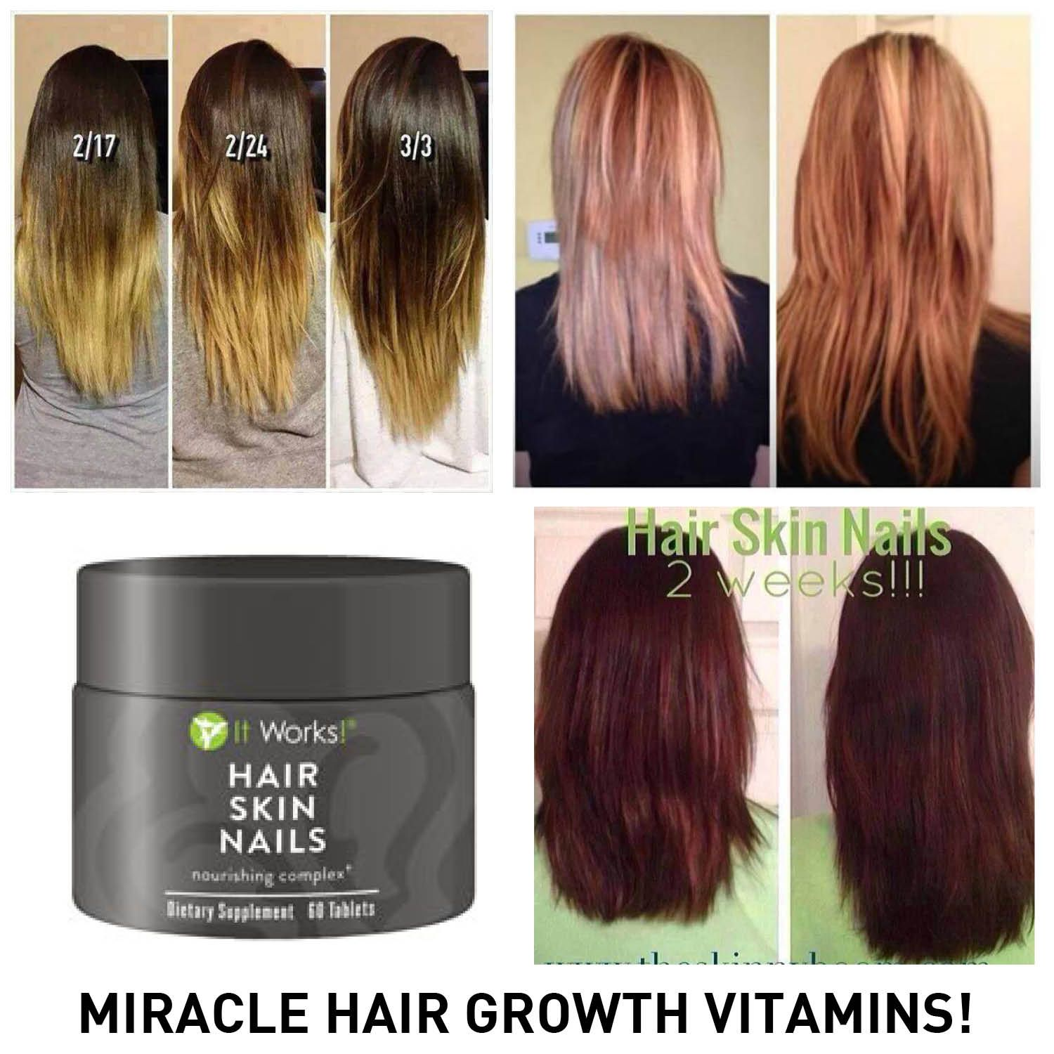 Check out our new ITWORKS! HAIR SKIN NAILS!!!! It works so great you ...