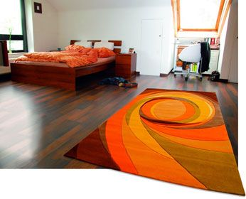 impressionnant tapis orange et noir d coration fran aise pinterest tapis orange. Black Bedroom Furniture Sets. Home Design Ideas