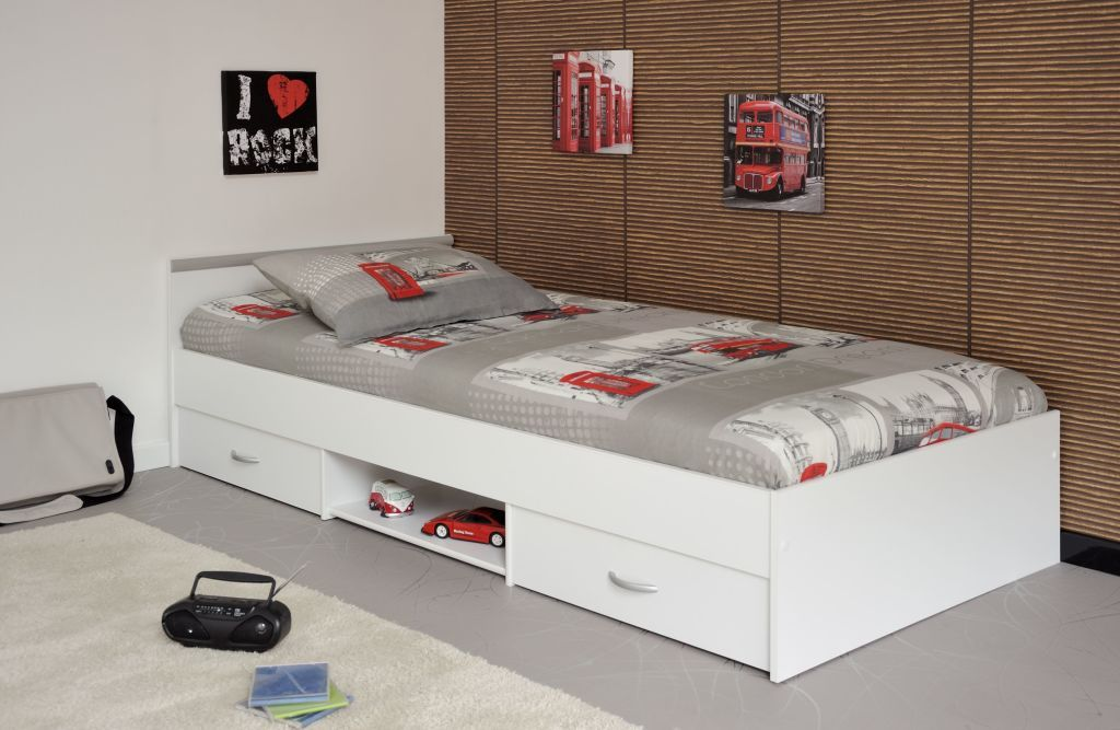 Jugendbett 90 X 200 Cm Mega 11 Weiß Mazis In 2019
