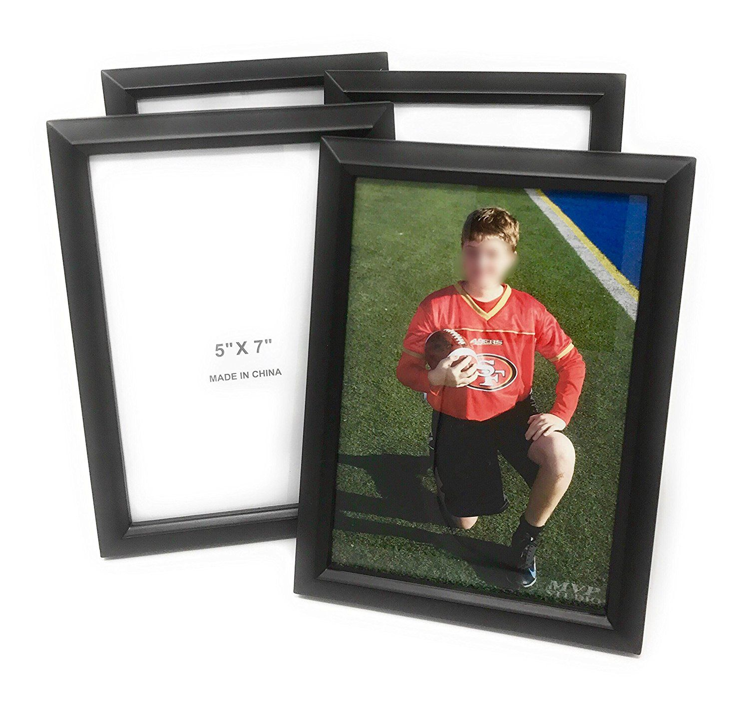Bulk 5x7 black photo picture frames with glass window and easel bulk 5x7 black photo picture frames with glass window and easel back 4 piece jeuxipadfo Image collections