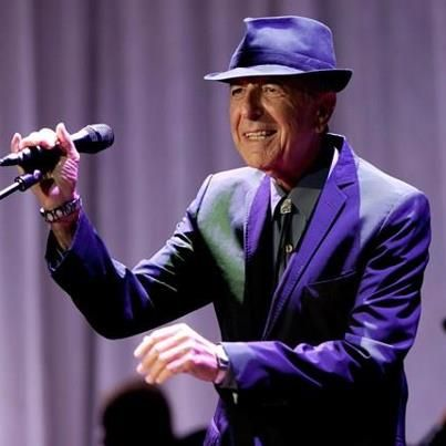 Leonard Cohen in Purple