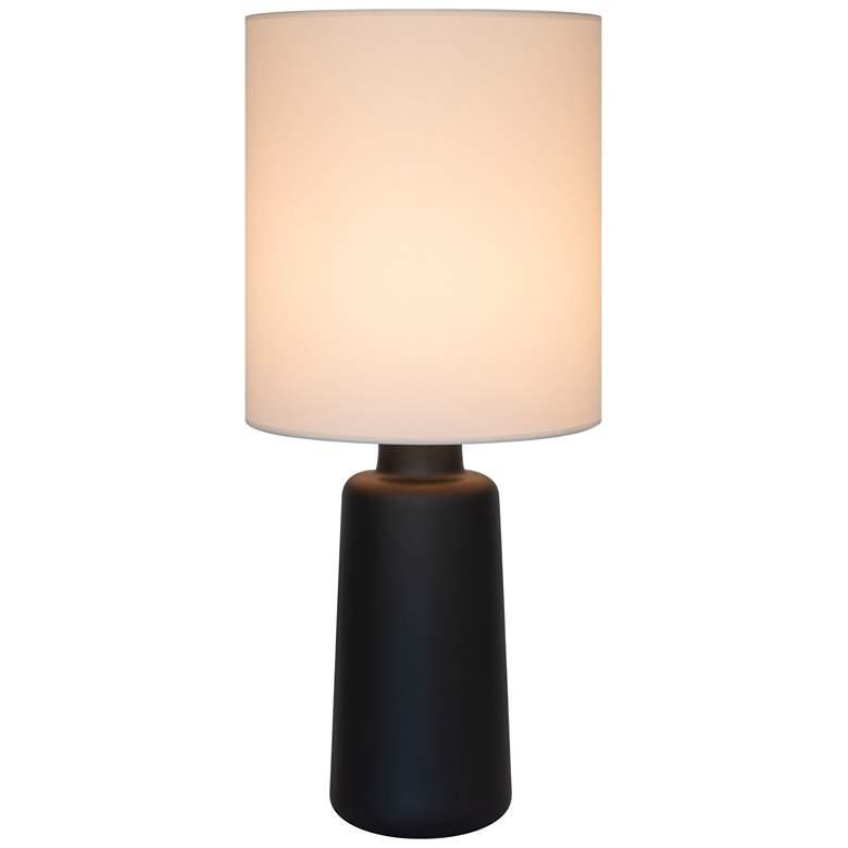 Circa Cast Iron Ceramic Table Lamp With White Linen Shade 71n82 Lamps Plus Ceramic Table Lamps Lamp Ceramic Table