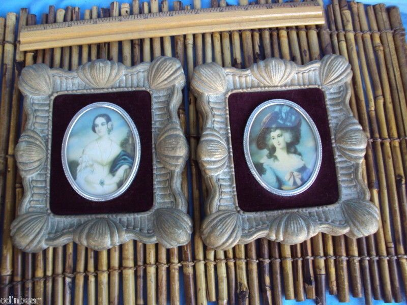Pin On Miniature Gold Frame Painting Made In Italy