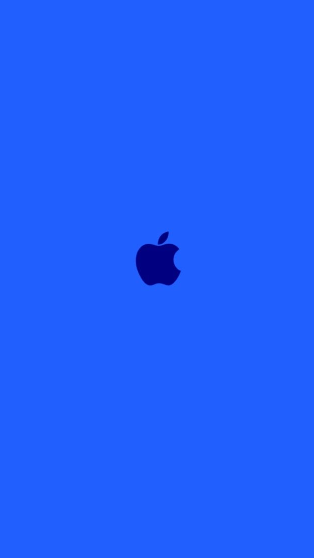 Blue Blue Apple Apple Logo Wallpaper Iphone Apple Wallpaper