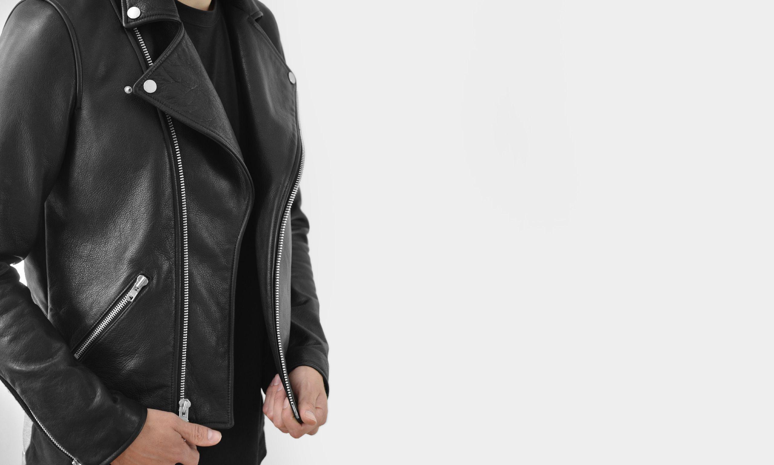 Lautner Leather Biker Jacket The Arrivals Leather Biker Jacket Jackets Menswear [ 1539 x 2560 Pixel ]