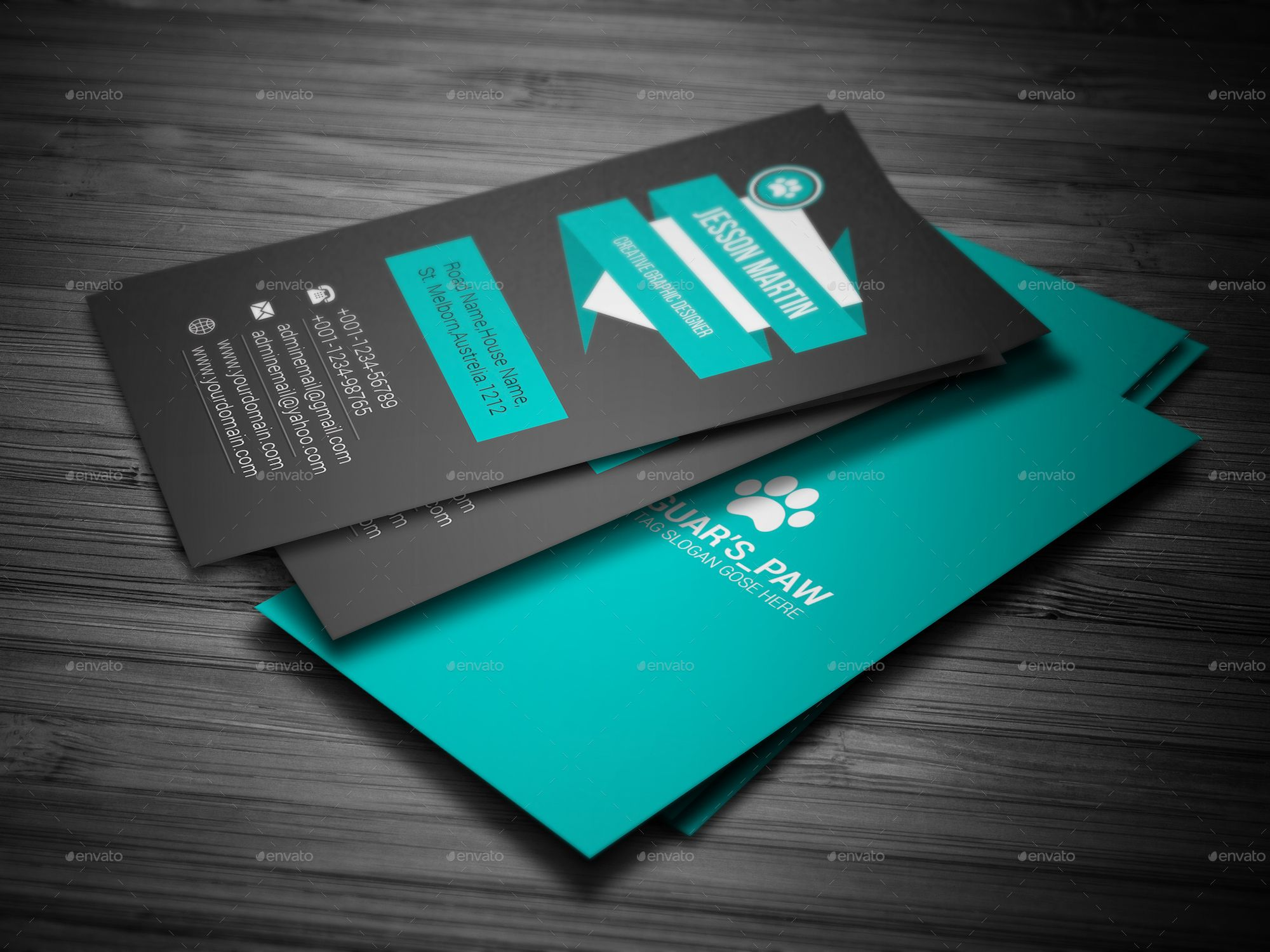 Modern Business Card Ad Modern Sponsored Business Card