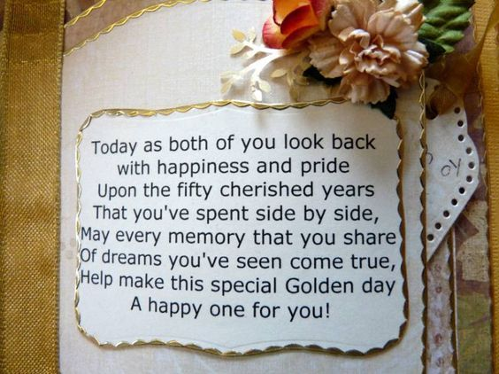50th Anniversary Speech To Parents From Daughter