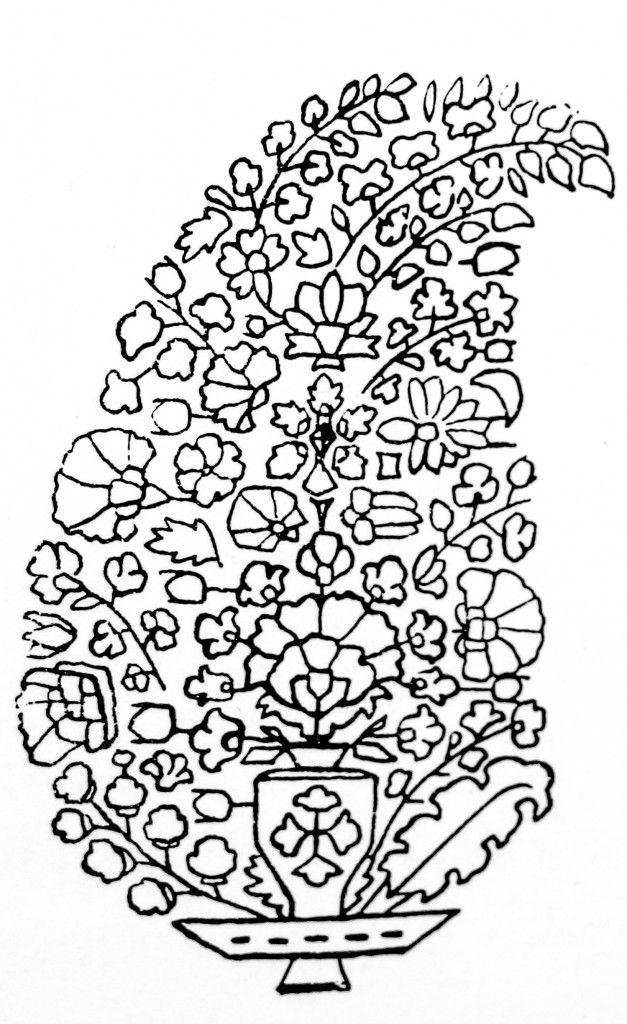 Paisley Buta. c 1770-1800. Kashmir Design. Complexity of