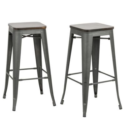 Carolina Forge Cormac Bar Stool With Images Backless Bar Stools Metal Counter Stools Counter Stools Backless