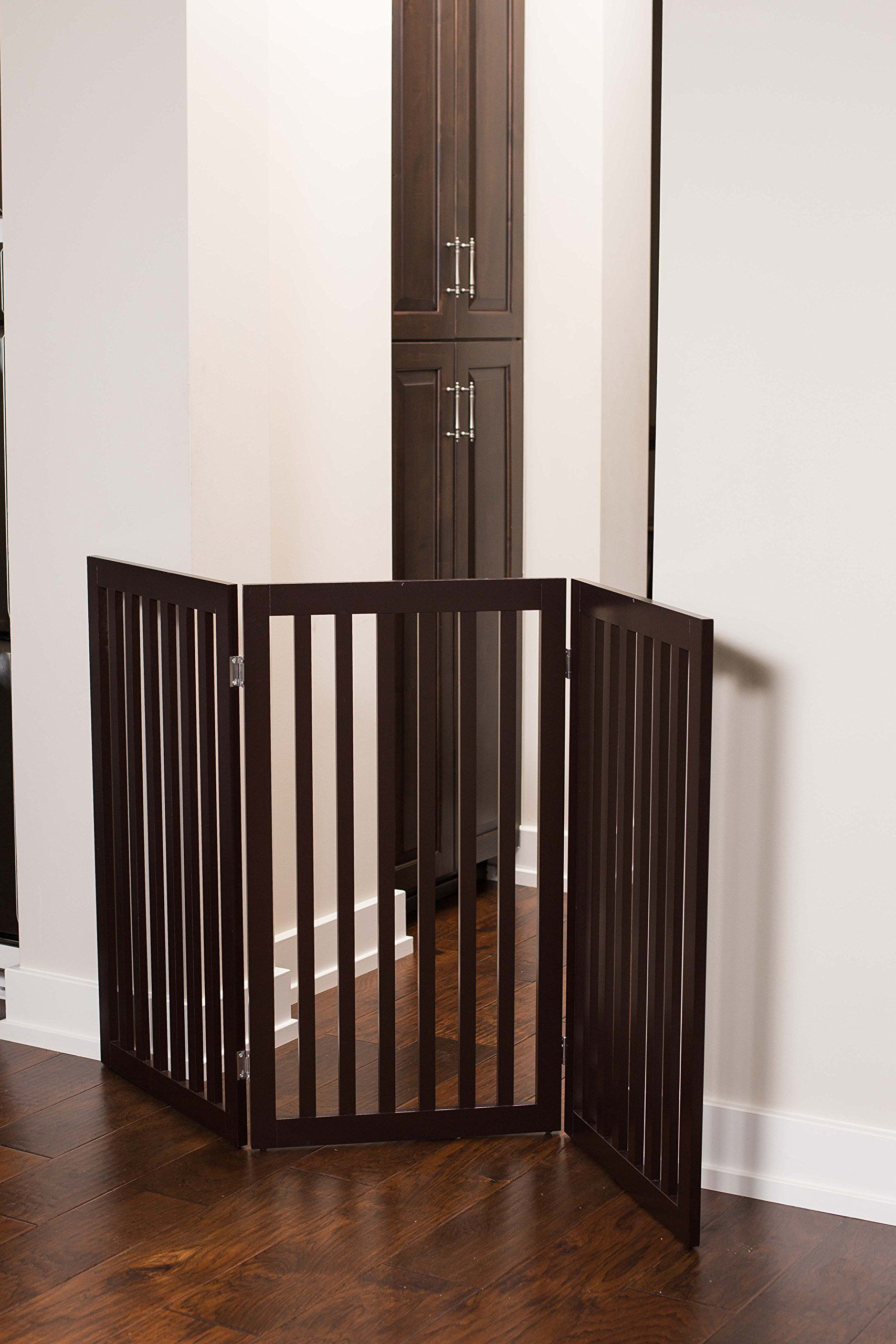 Internets Best Traditional Pet Gate 3 Panel 36 Inch Tall Fence Free