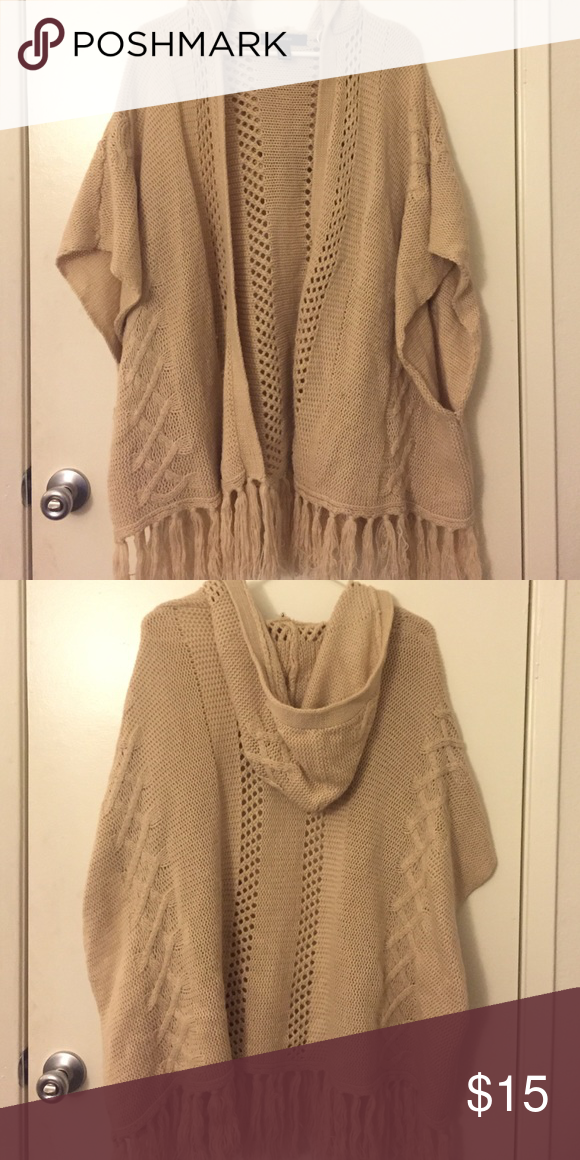Oversized Tan short sleeve Cardigan Tan | oversized knit short ...