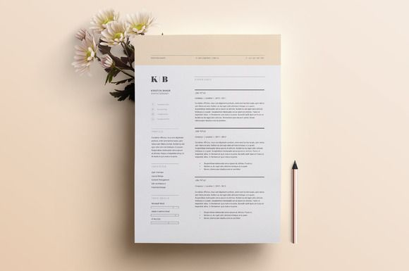 Resume Template 3 Page | CV Template by The Template Depot on @creativework247