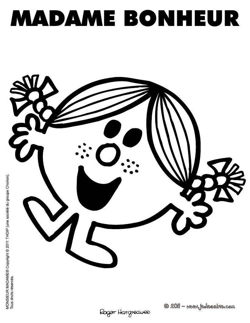 Activités enfants · MADAME BONHEUR Application GratuiteProjet Bonheur Coloriage