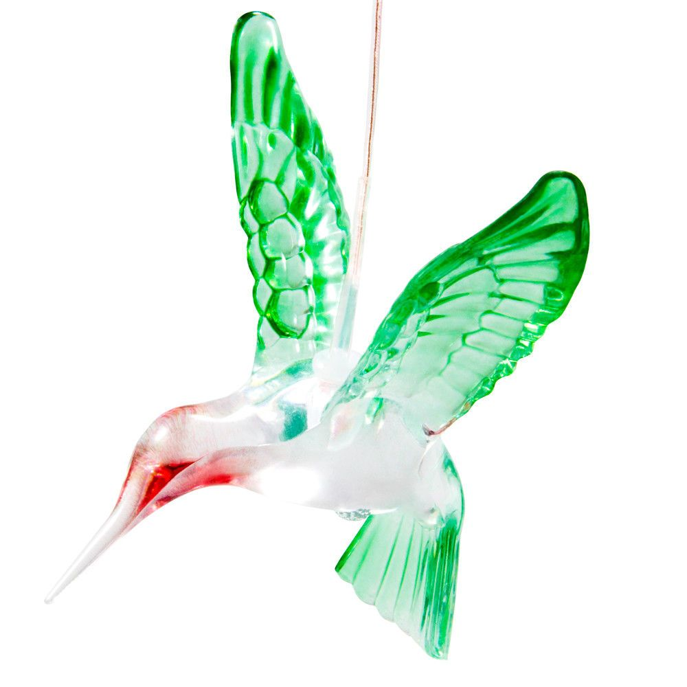 Solar Color Changing Led Hummingbird Wind Chimes Home Garden Decor Light Hanging Unbranded