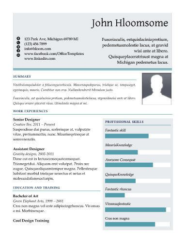TwoTone Colour Resume Template A Future For Me Pinterest - Free resume templates that stand out