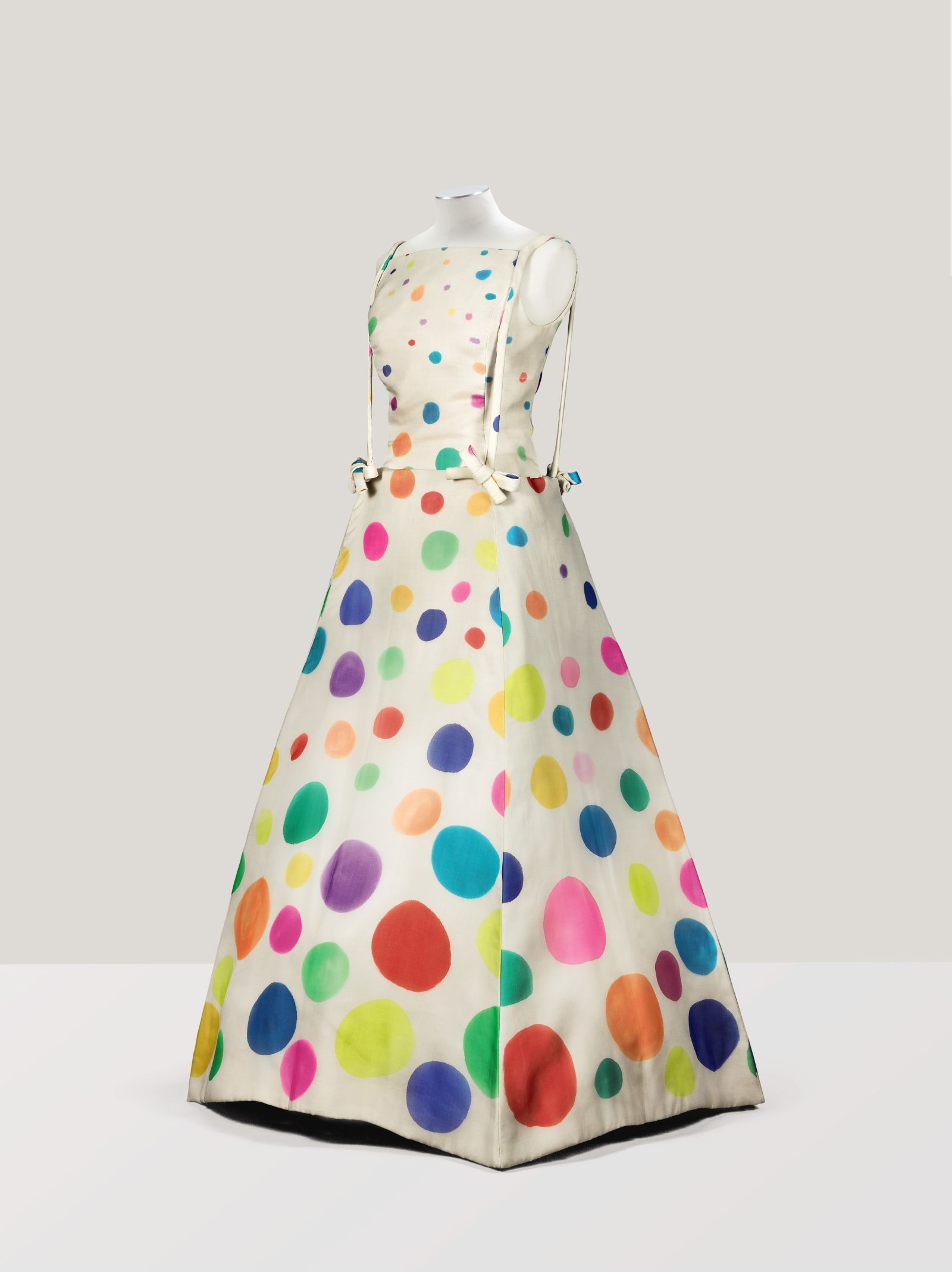 Marc Vaughan designed this square evening dress in 1973 for the couturier's muse. It's hand-painted with multicolored circles, and is set to sell for €800-€1,200 ($879 - $1319).