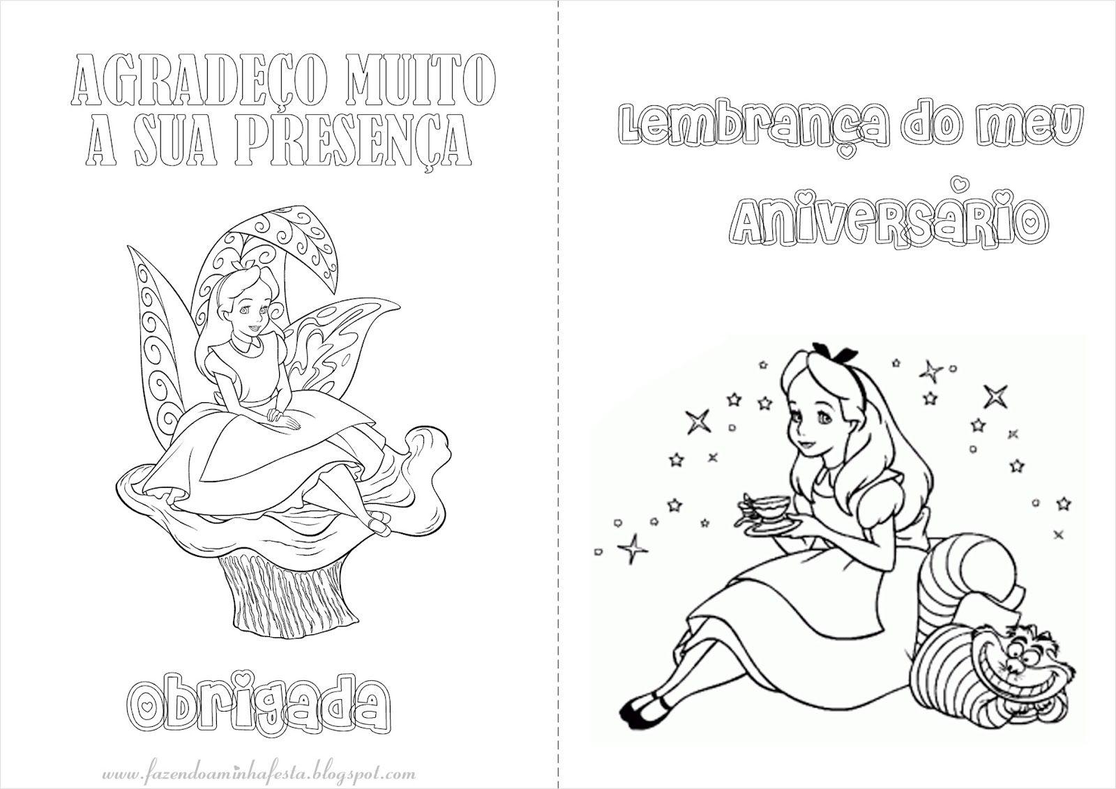 Alice No Pais Das Maravilhas Livrinho Para Colorir Com Imagens