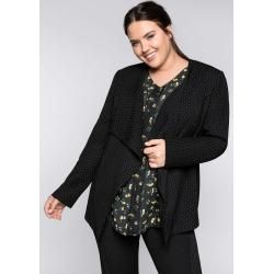 Große Größen: Blazer in kragenloser Form mit Taschen, schwarz-weiß, Gr.44 Sheego – Business outfits