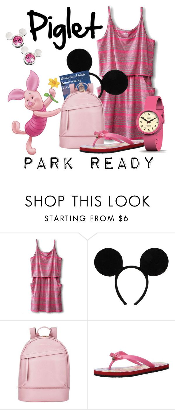 """Piglet: Park Ready"" by laniocracy ❤ liked on Polyvore featuring Kavu, Disney, Want Les Essentiels de la Vie, Kate Spade, Newgate and disneyland"