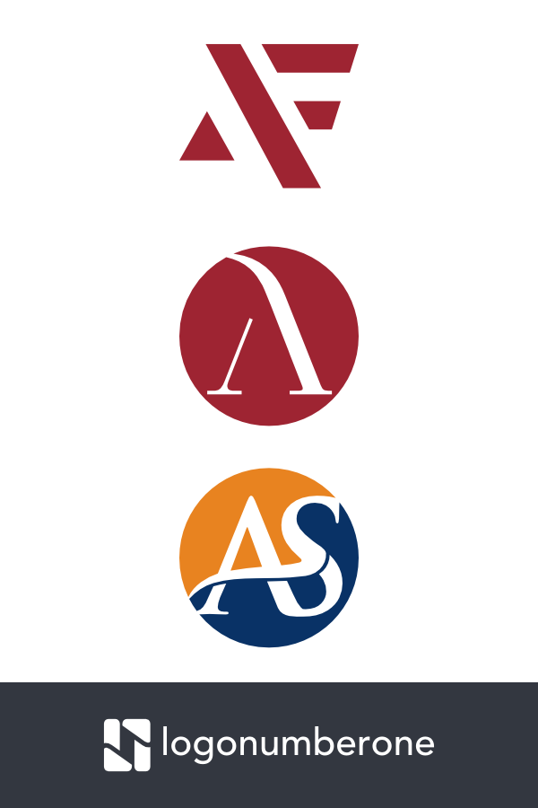 A Letter Logo Letter Logo Logos Logo Number