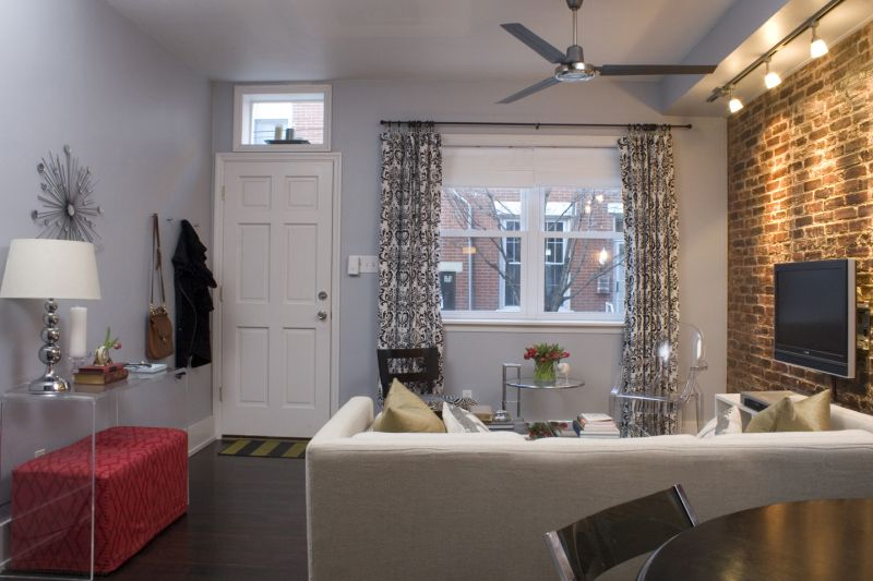 Before After A South Philly Rowhome Home Living Room Home Row House Design