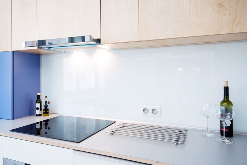 crdence de cuisine verre blanc pur - Cuisine En Verre Blanc
