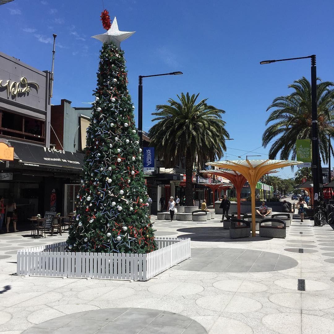 Part of aclandstreet in stkilda melbourne australia