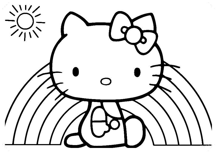 Los Mas Lindos Dibujos De Hello Kitty Para Colorear Y Pintar A Todo Color Imagenes Pront Hello Kitty Imprimible Hello Kitty Para Colorear Hello Kitty Imagenes