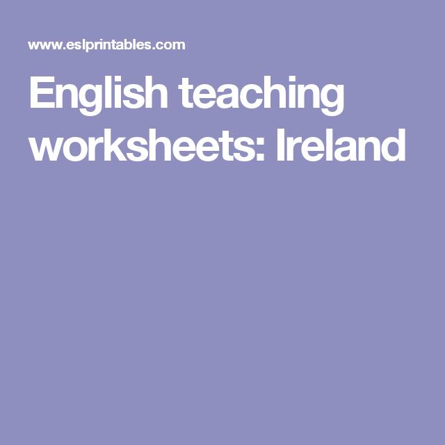 English teaching worksheets: Ireland | MARCH | Pinterest