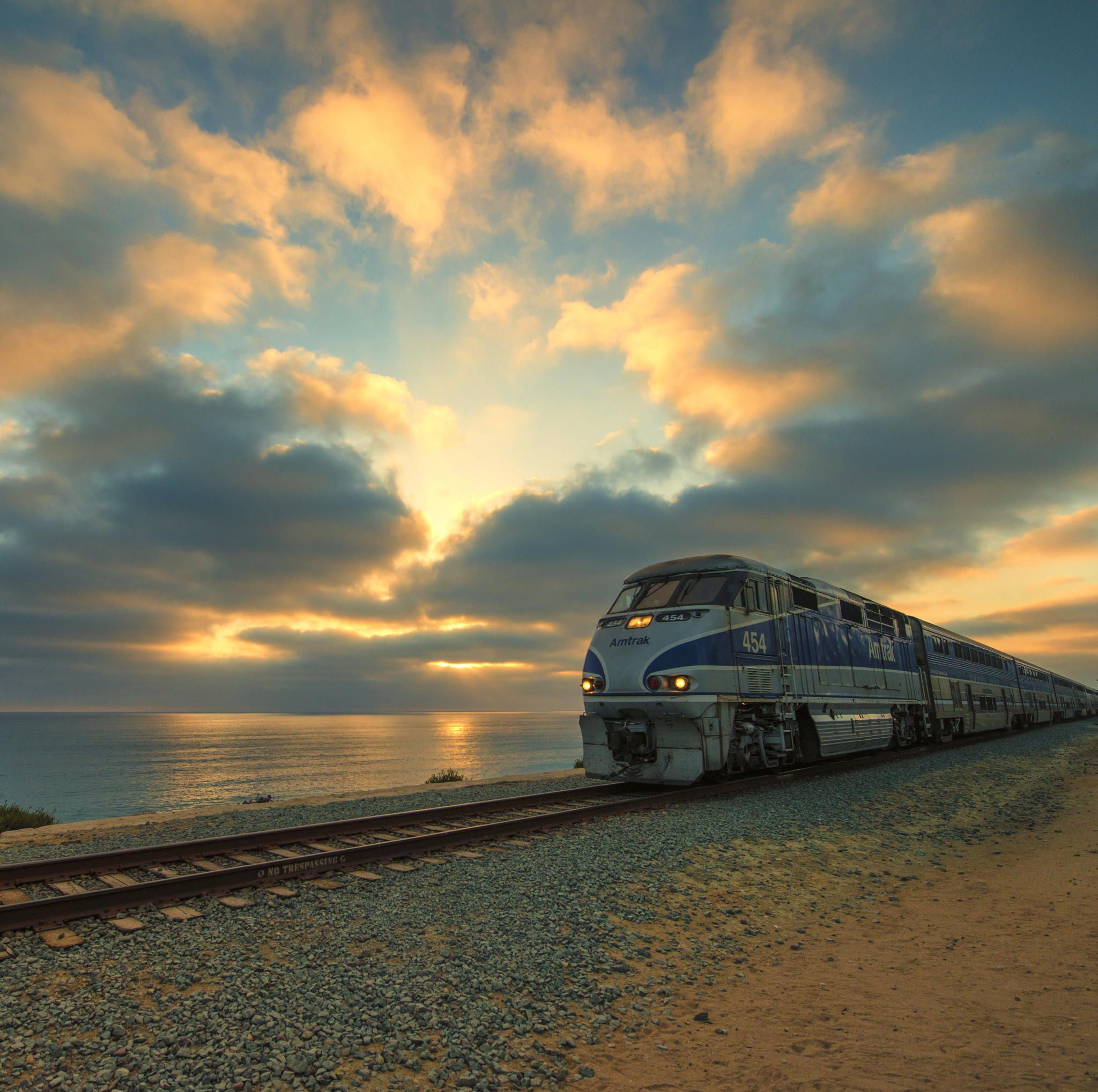 Pacific Surfliner at Sunset by Electrophile on 500px