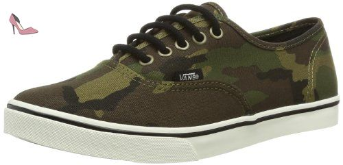 5440ef47b8eba5 Vans Authentic Lo Pro (Camo) Military Olive   Marshmallow - (adulte (homme