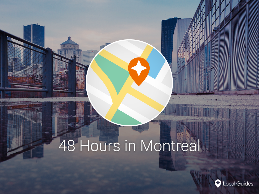 48 hours in Montreal with a custom map Custom map, Local
