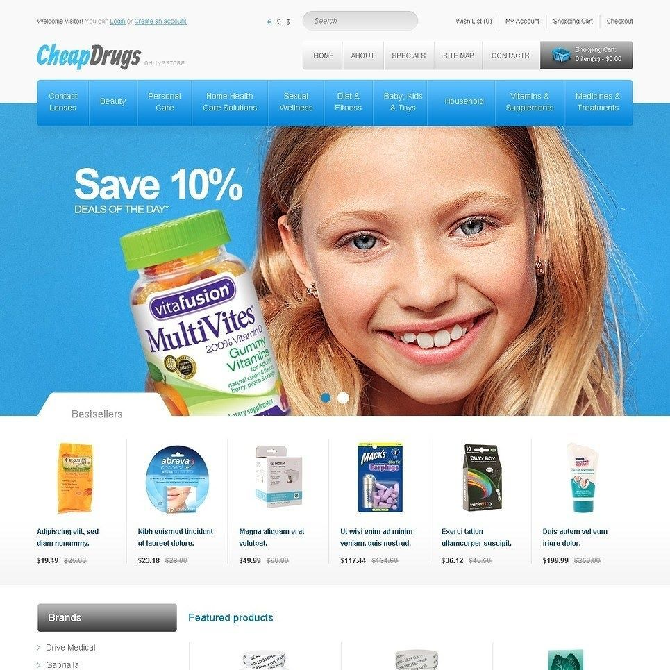 Super isn\'t it?? Affordable Drugs OpenCart Template CLICK HERE! http ...
