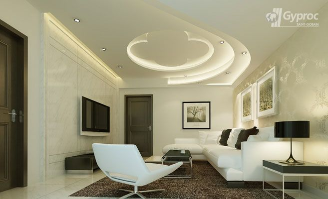 False Ceiling Designs For Living Room | Saint-Gobain Gyproc India ...
