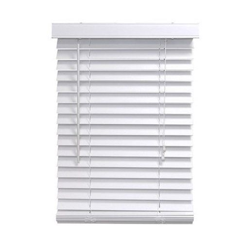 Homepointe 5864fww White Fauxwood Mini Blind 2 Inch By 58 Inch By 64 Inch By Homepointe 64 09 Can Be Mounted Insi Wooden Window Blinds Mini Blinds Blinds