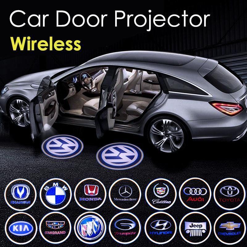 Tikauto Wireless Car Door Projector Led Logo Light In 2020 Led