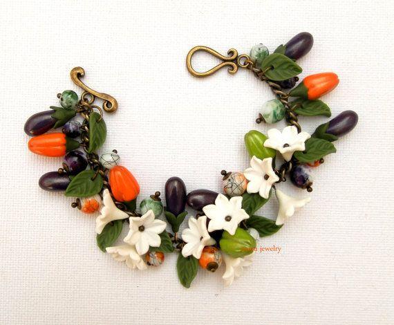 Charm Bracelet Vegetable Bracelet Handmade Bracelet Vegetable