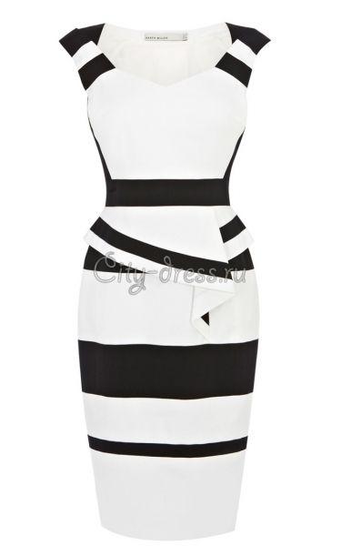 Фото сексуальное облегающее черно-белое платье karen ...