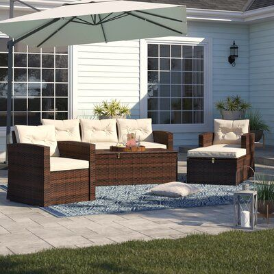 Best Sol 72 Outdoor Arlington 5 Piece Sofa Seating Group With 400 x 300
