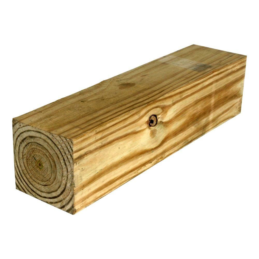 Weathershield 6 In X 6 In X 8 Ft 2 Pressure Treated Timber 260691 The Home Depot Need 4 20 77 Each Pressure Treated Timber Lumber Home Depot