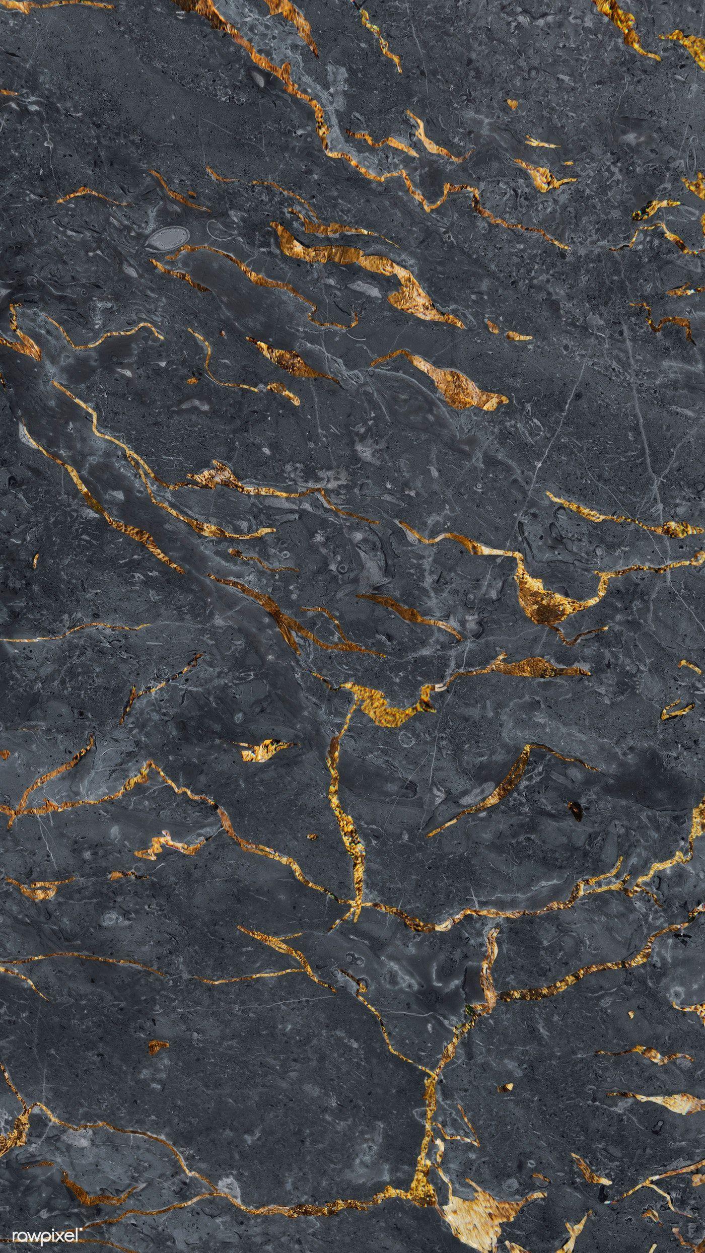 Gray marble textured mobile phone wallpaper premium
