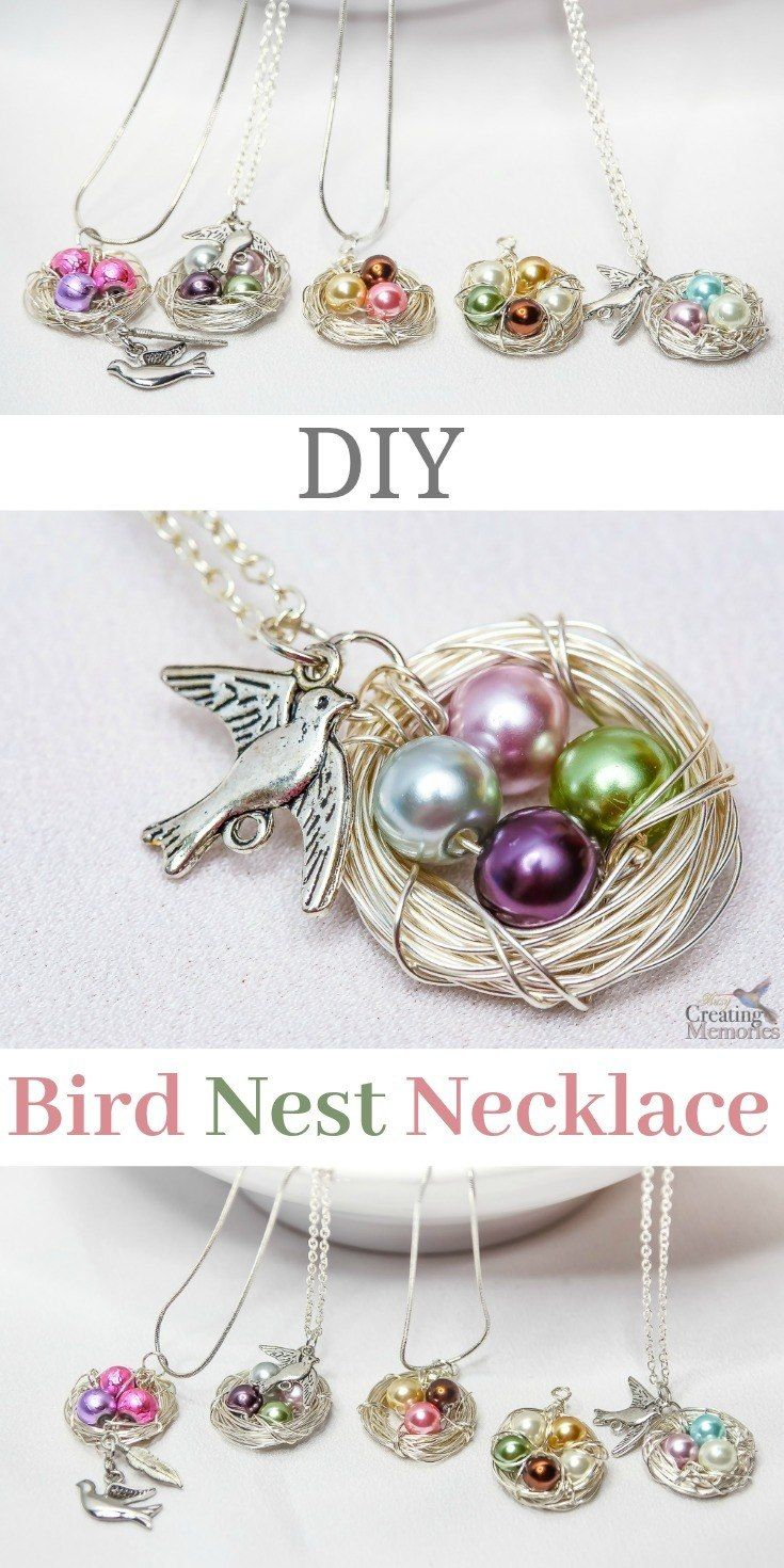 beautiful diy bird nest necklace in under 30 minutes | simple