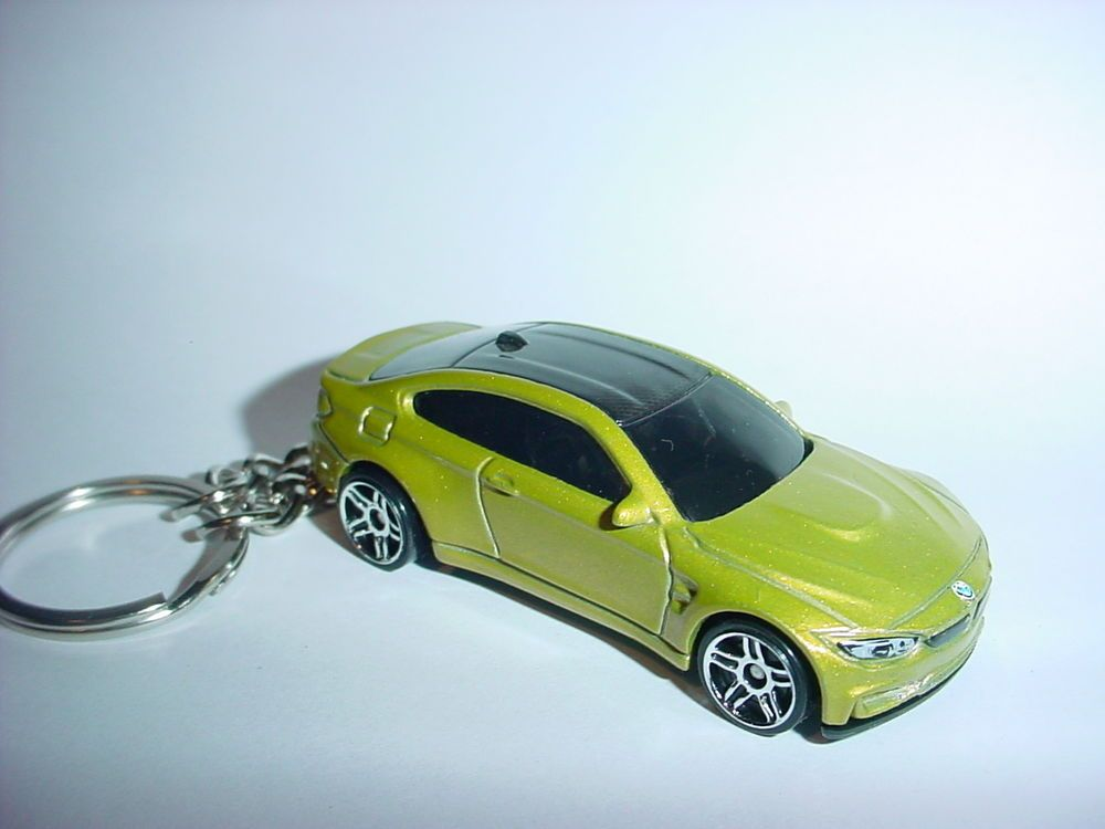 New 3d Bmw M4 Custom Keychain Keyring Key Lt Green Racing Finish M Series Race Bmw Keychain Bmw Toy Car