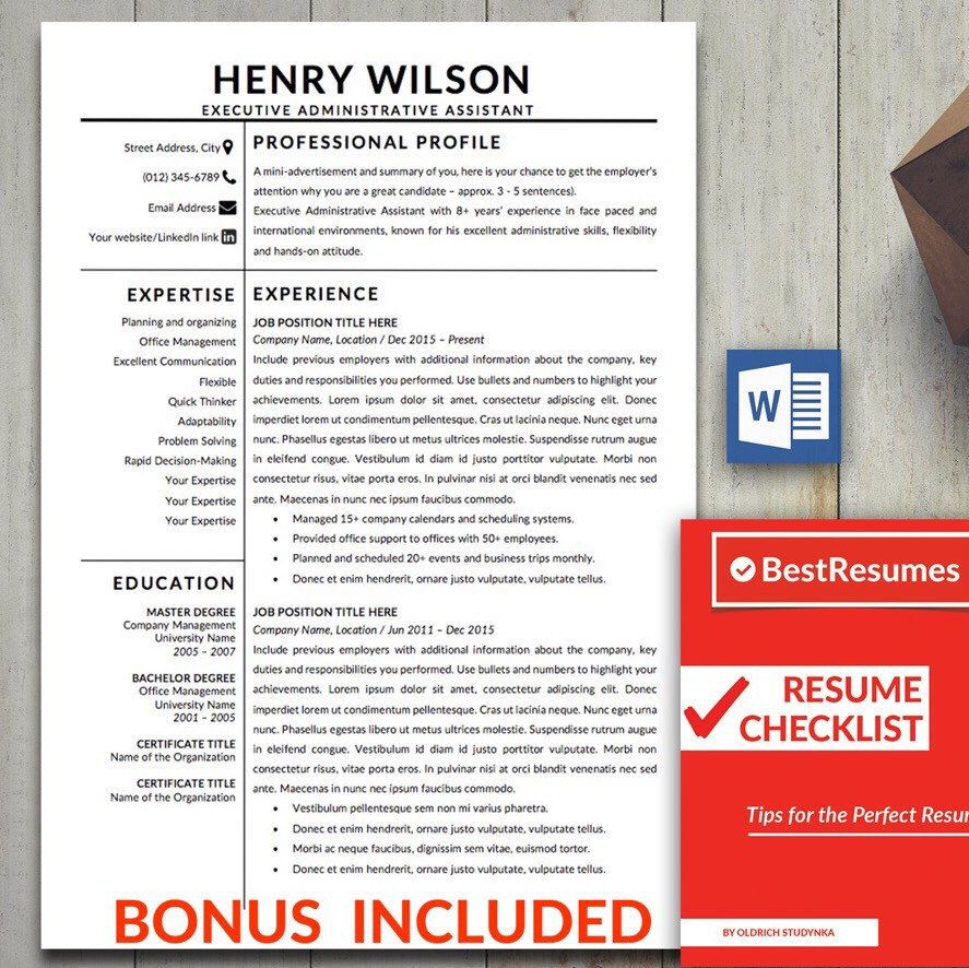 Professional Resume Template Simple Resume Template Minimalist