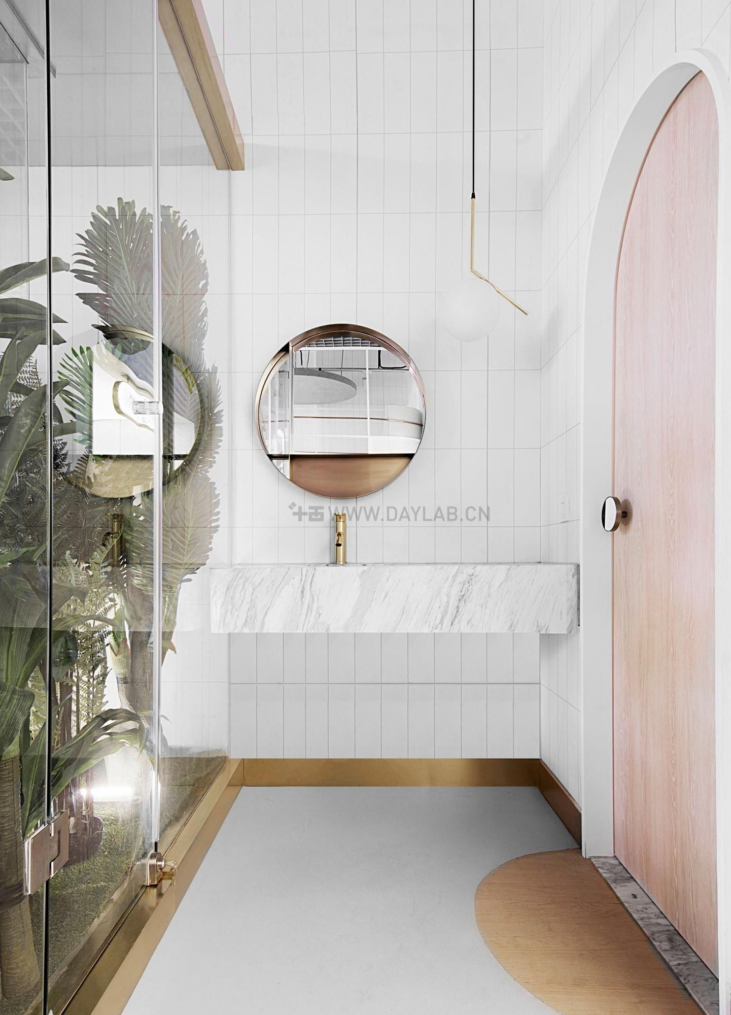 This bathroom layout includes simplicity, custom ...