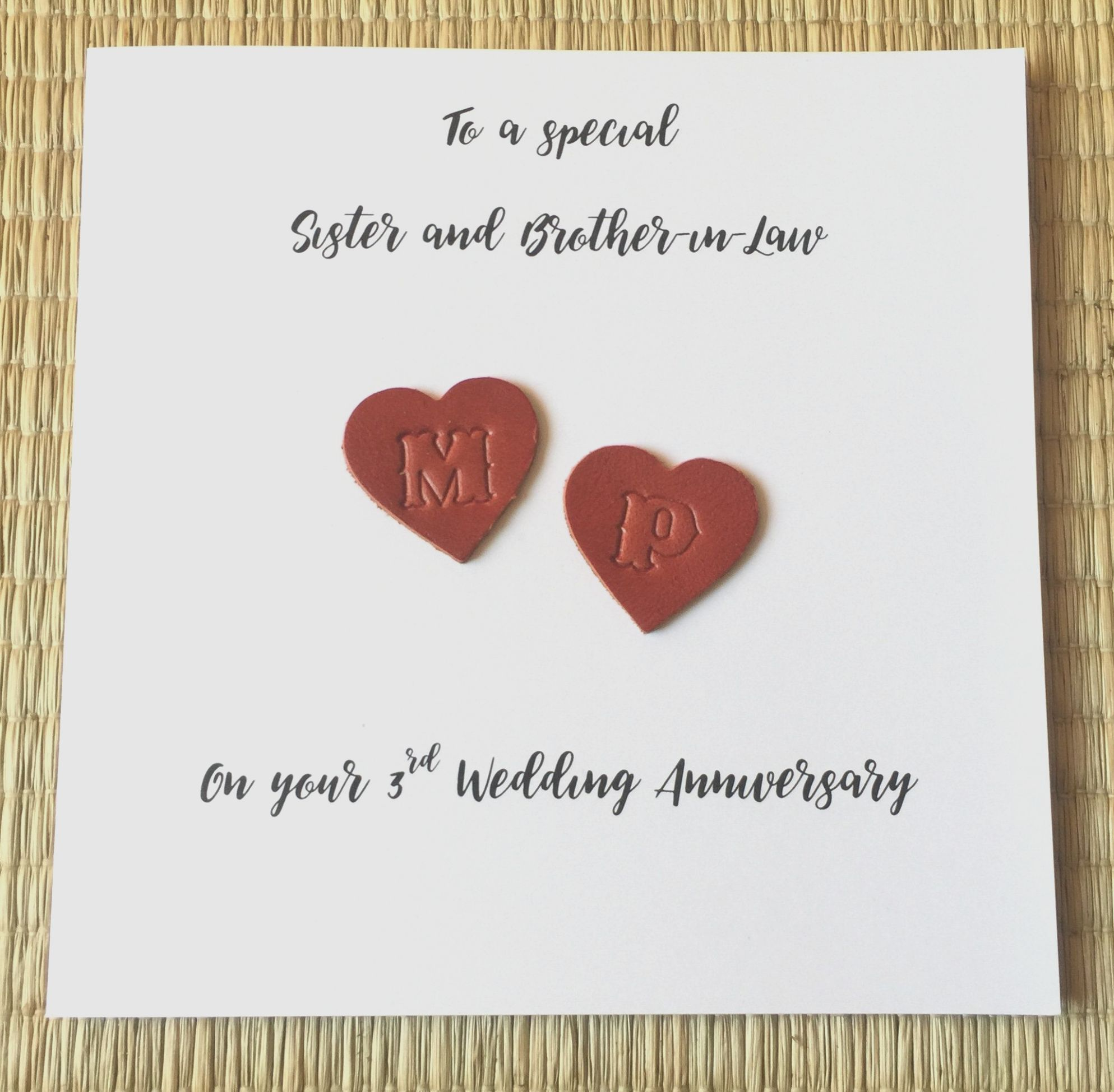 6 Leather Wedding Anniversary Card Leather Wedding Anniversary Card Wedding Anniversary Cards 3rd Wedding Anniversary