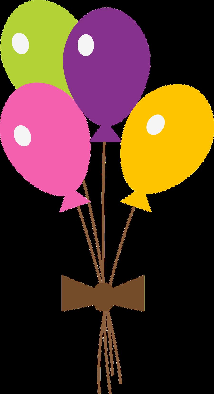 Baloes para imprimir colorido